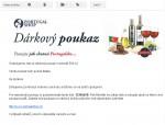 Dárkový poukaz na portugalské produkty - volitelná hodnota