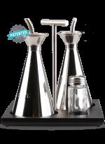 Kořenící sada ANTI-DROP, olej, ocet, sůl, pepř