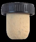 Dekorativní korková zátka kolmatovaná s plastovou hlavou 27x19,5 mm, 100 ks