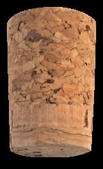 Korková zátka kónická jednoplošková 38x28/23 mm, 100 ks