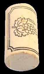 Korková zátka přírodní kolmatovaná, bílá, 45x24 mm, 100 ks