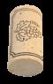 Korková zátka přírodní natural, bílá, 45x24 mm, 100 ks