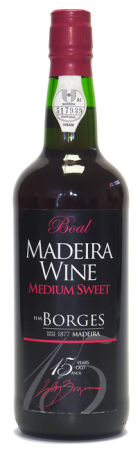 Madeira wine, Medium Sweet, Extra reserve, Borges, 15 let, polosladké, 750 ml