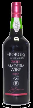 Madeira wine, Sweet, Reserva, Borges, 5 let, sladké, 750 ml