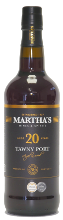 Portské víno Porto Martha's 20 let, červené tawny, 750 ml